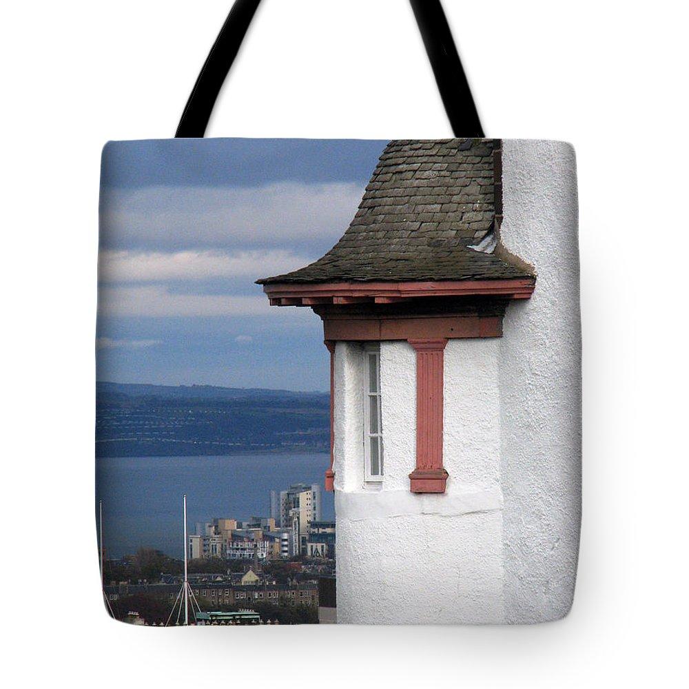 Scotland Tote Bag featuring the digital art Edinburgh Scotland by Amanda Barcon