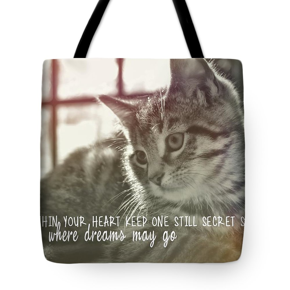 Cat Tote Bag featuring the photograph Edward Quote by JAMART Photography