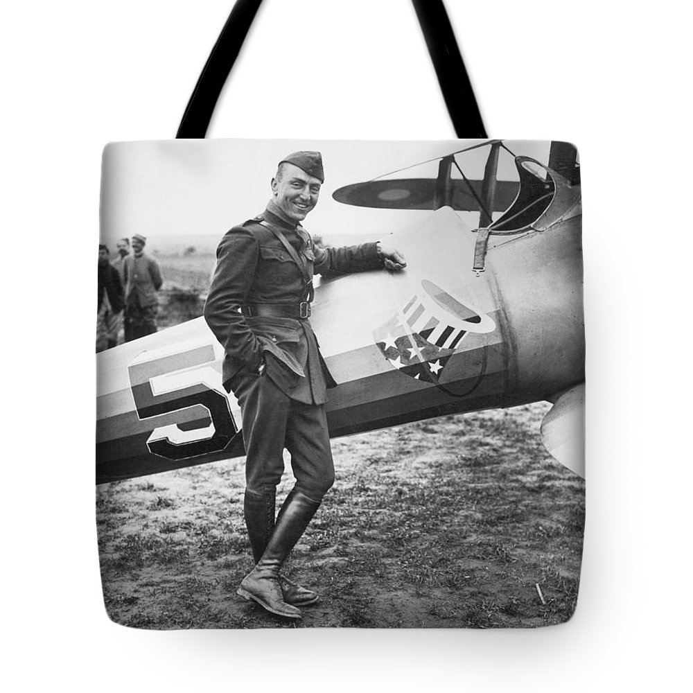1918 Tote Bag featuring the photograph Edward V. Rickenbacker by Granger