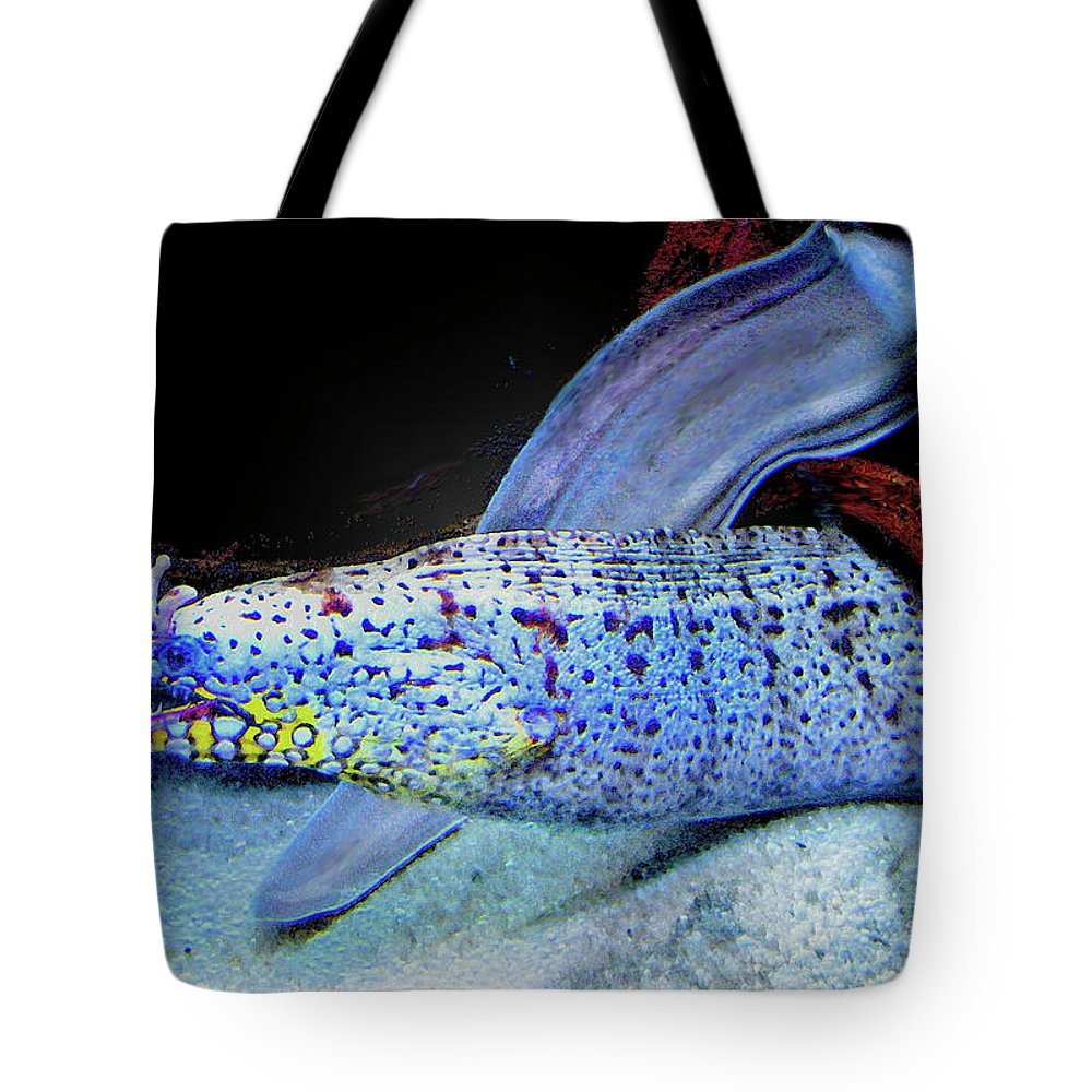 Eel Tote Bag featuring the digital art eel by Jane Schnetlage