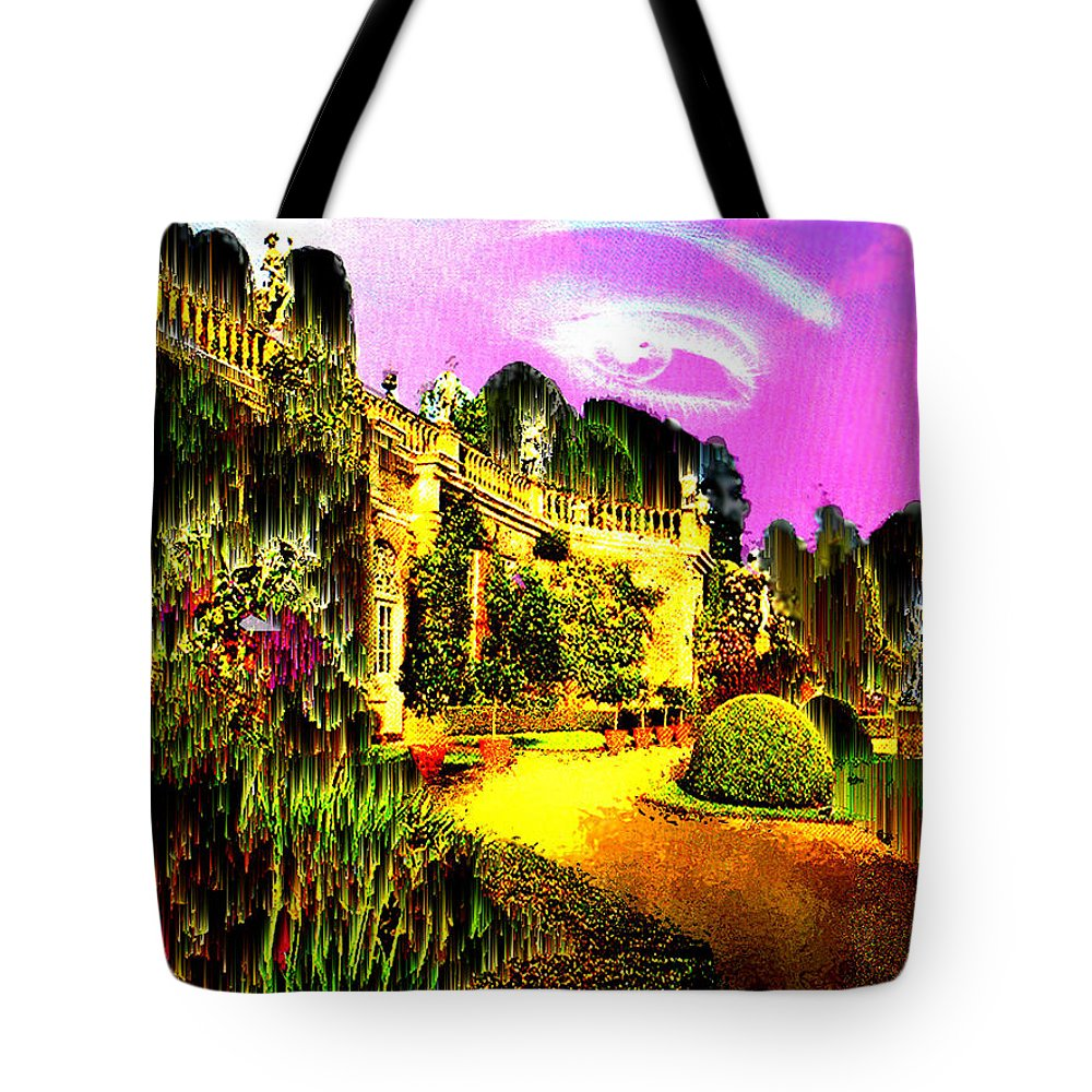 Mansion Tote Bag featuring the digital art Eerie Estate by Seth Weaver