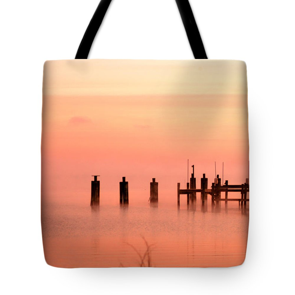 Clay Tote Bag featuring the photograph Eery Morn by Clayton Bruster