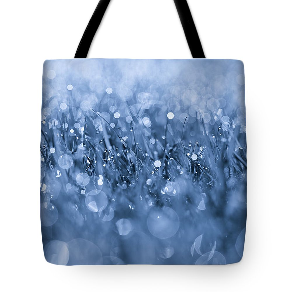 Effervescent Layered Blues Tote Bag featuring the photograph Effervescent Layered Blues by Rachel Cohen