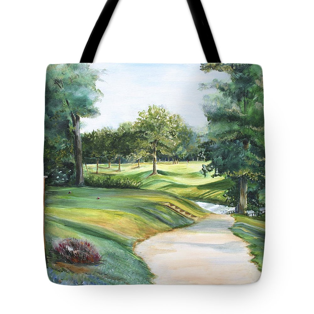 Effingham Tote Bag featuring the painting Effingham Country Club by Colleen Gartner
