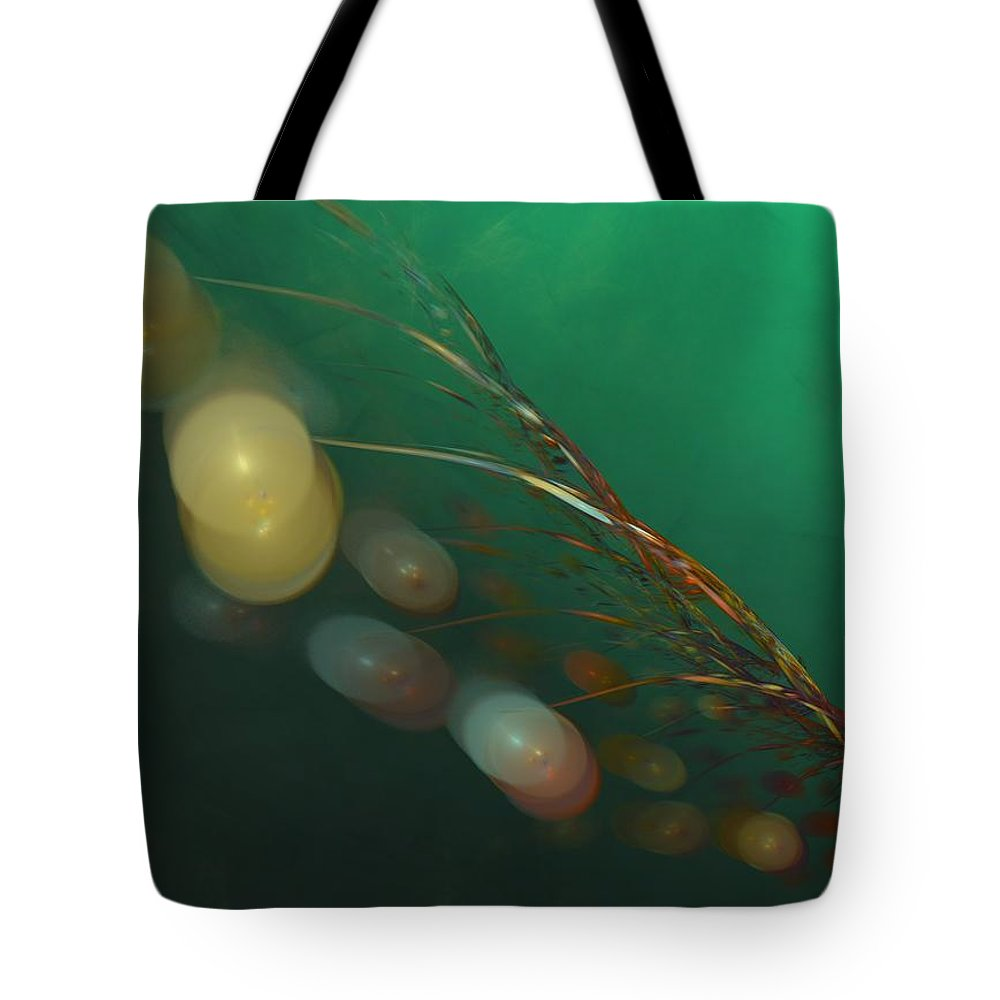 Fantasy Tote Bag featuring the digital art Egg Clutch Diving The Reef Series by David Lane