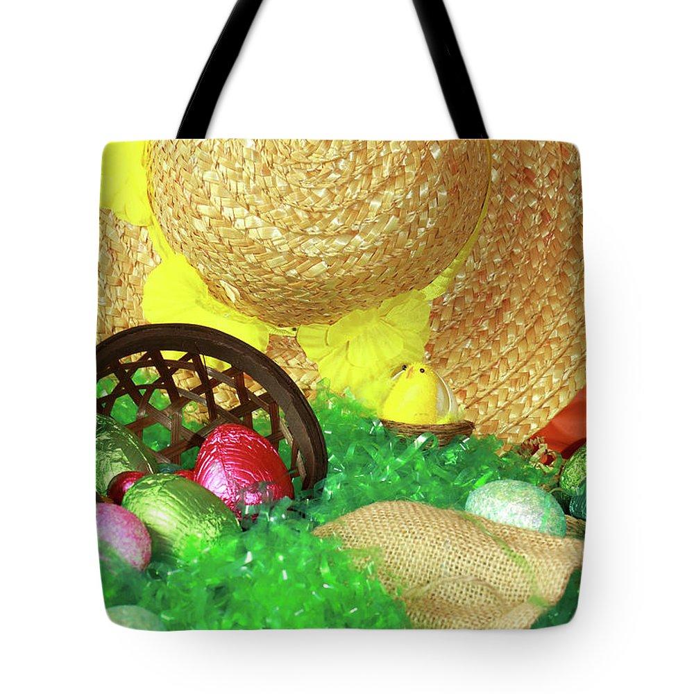 Eeaster Tote Bag featuring the photograph Eggs And A Bonnet For Easter by Kevin Richardson