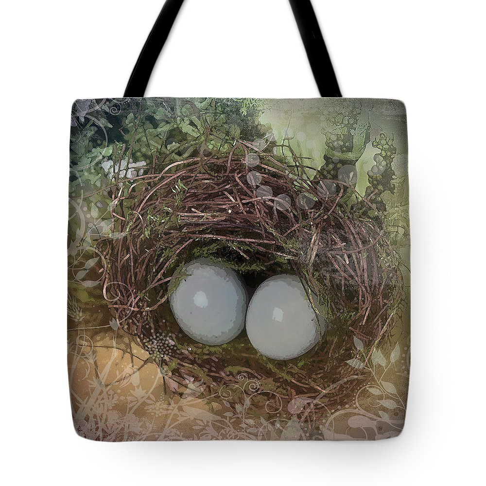 Susan Vineyard Tote Bag featuring the photograph Eggs In A Nest by Susan Vineyard