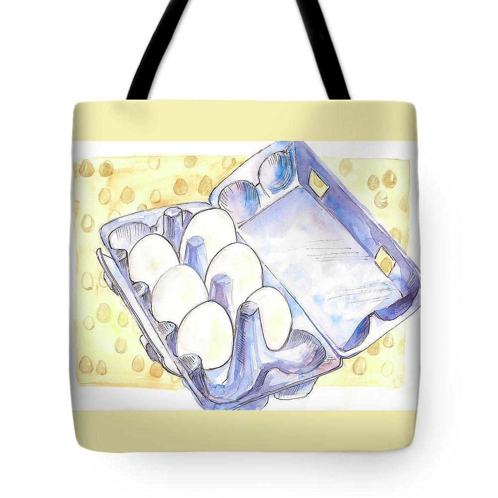 Eggs Tote Bag featuring the painting Eggs by Yana Sadykova
