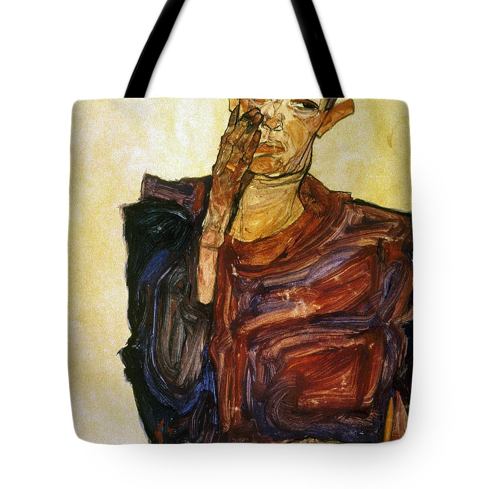 1910 Tote Bag featuring the photograph Egon Schiele (1890-1918) by Granger