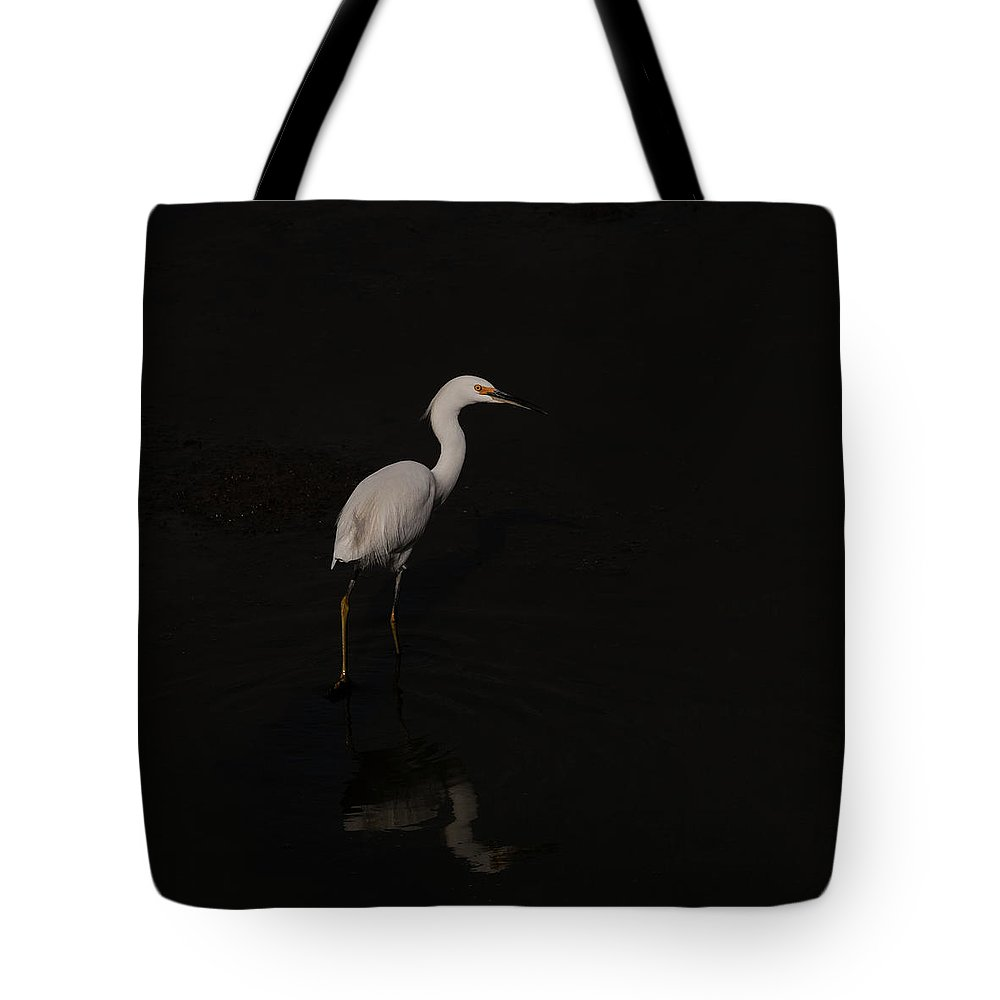 Egret Tote Bag featuring the photograph Egret Taking A Walk by Catherine Lau