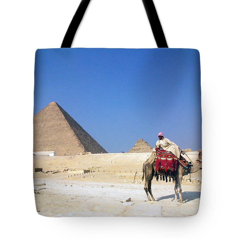 Egypt Tote Bag featuring the photograph Egypt - Pyramid by Munir Alawi