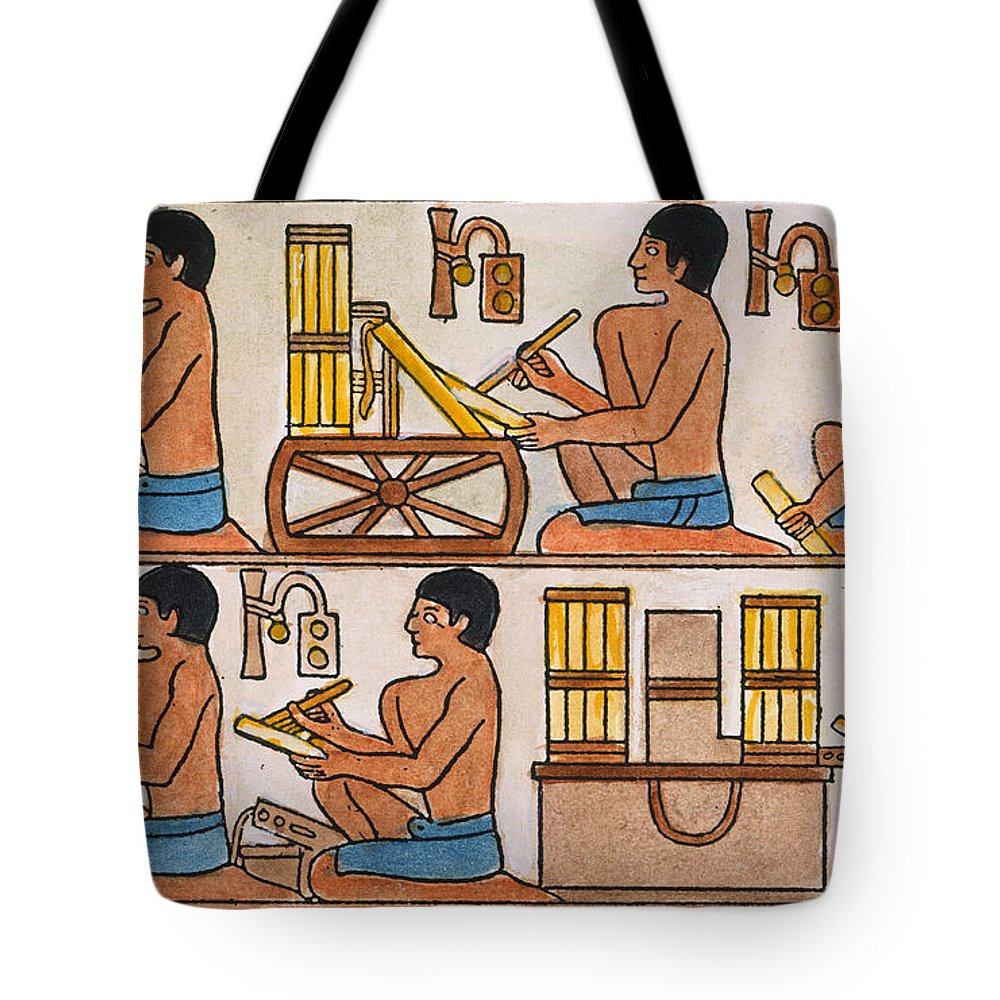 27th Century B.c. Tote Bag featuring the photograph Egyptian Scribes by Granger