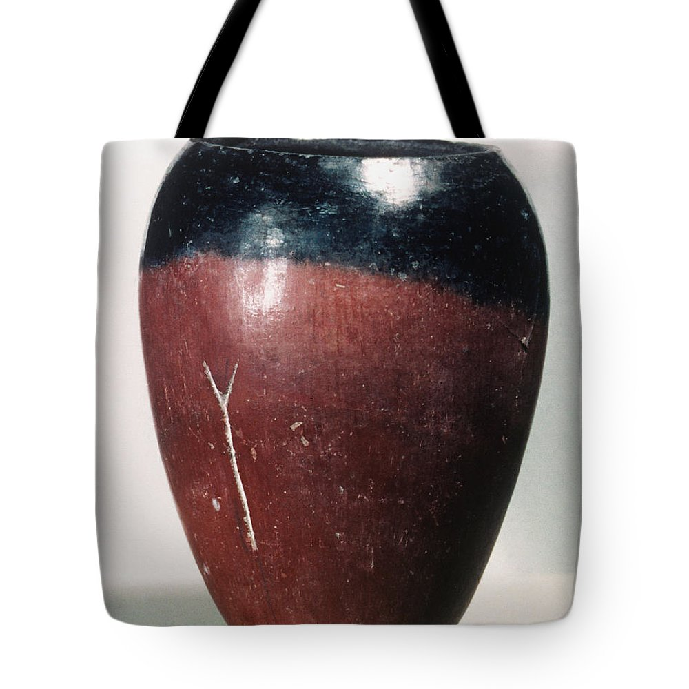 4000 B.c. Tote Bag featuring the photograph Egyptian Vase, C4000 B.c by Granger