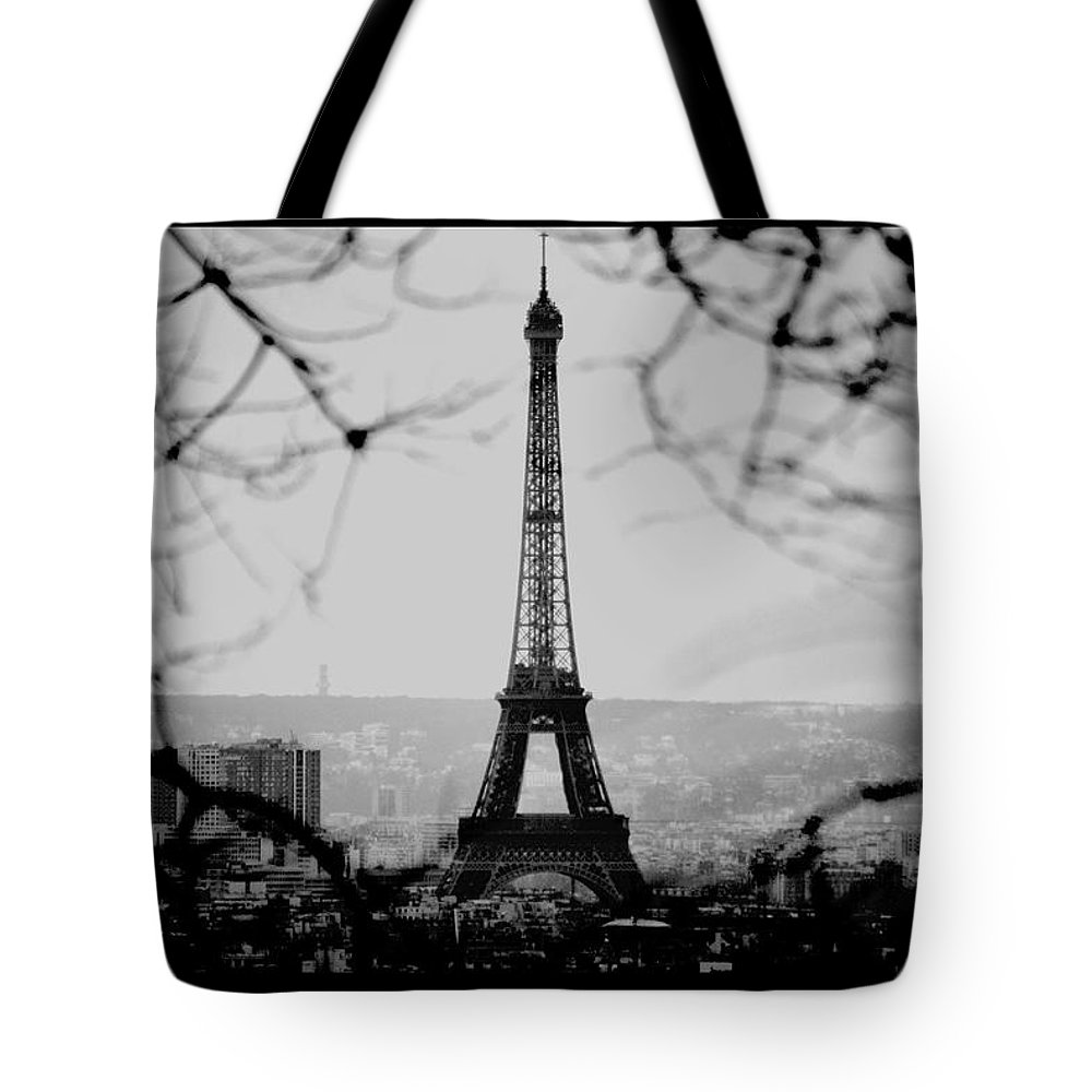 Eiffel Tote Bag featuring the photograph Eiffel Eyeful by J Todd