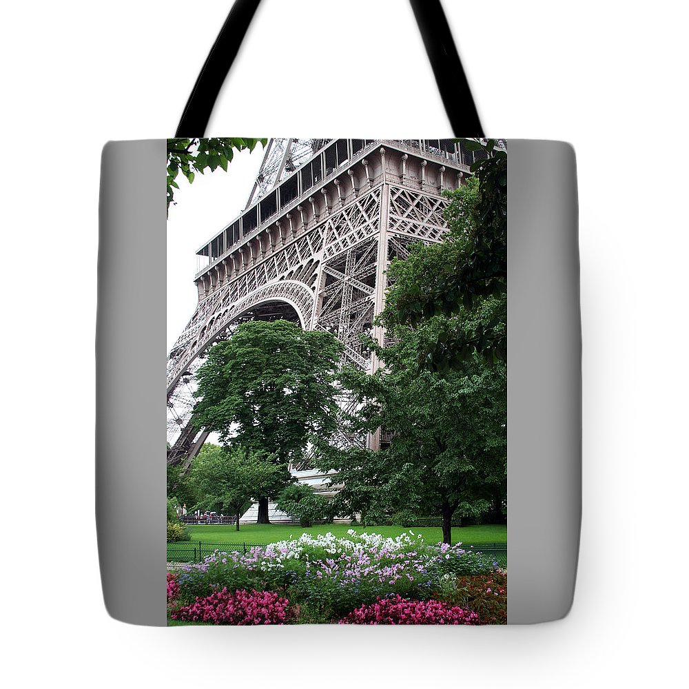 Eiffel Tote Bag featuring the photograph Eiffel Tower Garden by Margie Wildblood