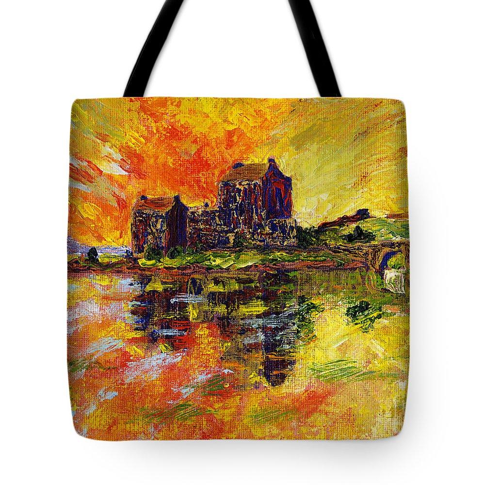 Eilean Donan Painting Tote Bag featuring the painting Eilean Donan by Edward McNaught-Davis