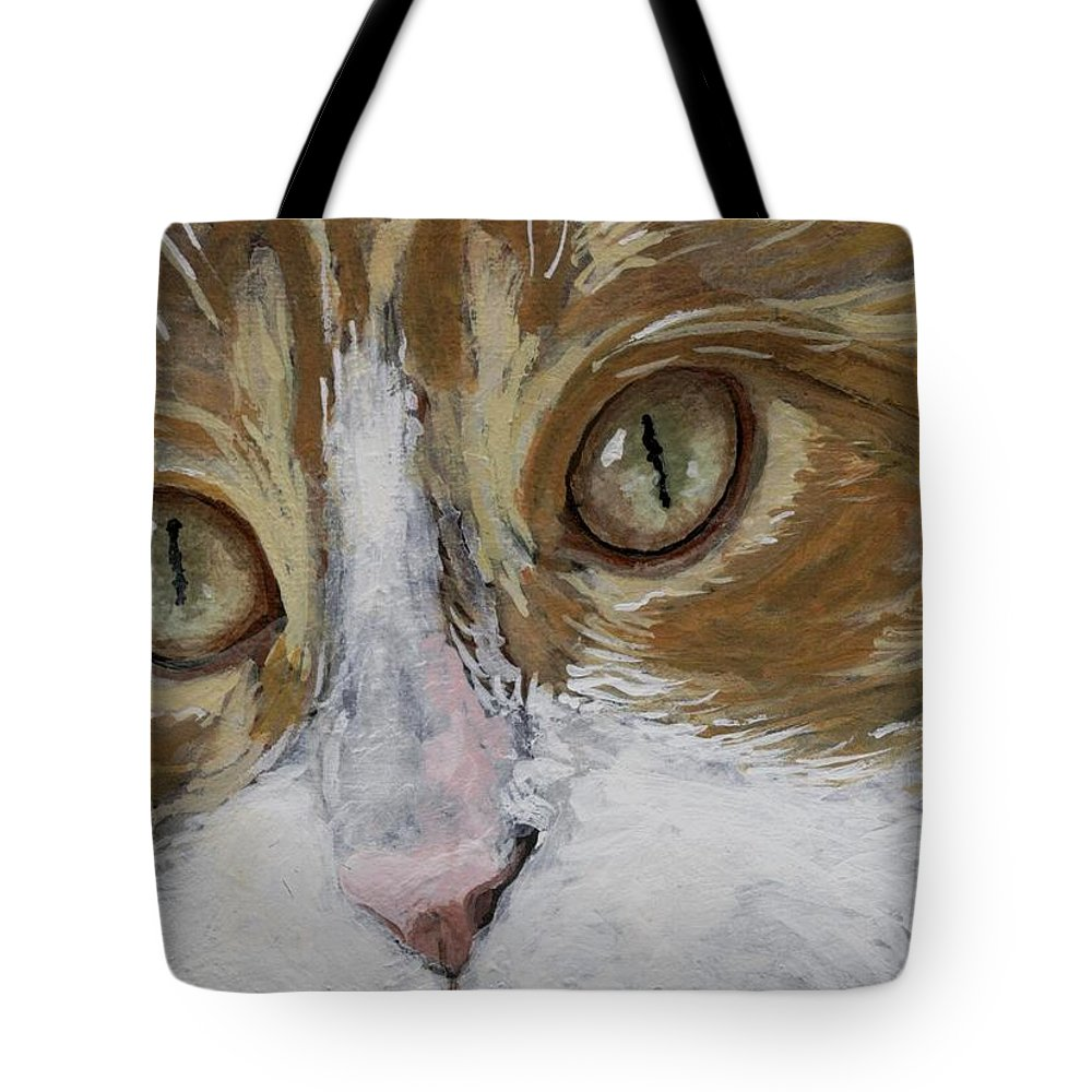Charity Tote Bag featuring the painting Einstein by Mary-Lee Sanders