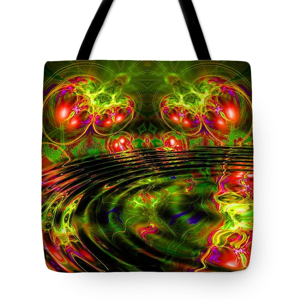 Green Tote Bag featuring the digital art Einstein's Dream by Robert Orinski