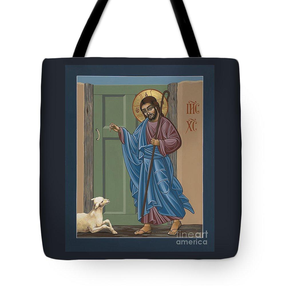 El Buen Pastor Tote Bag featuring the painting El Buen Pastor 188 by William Hart McNichols