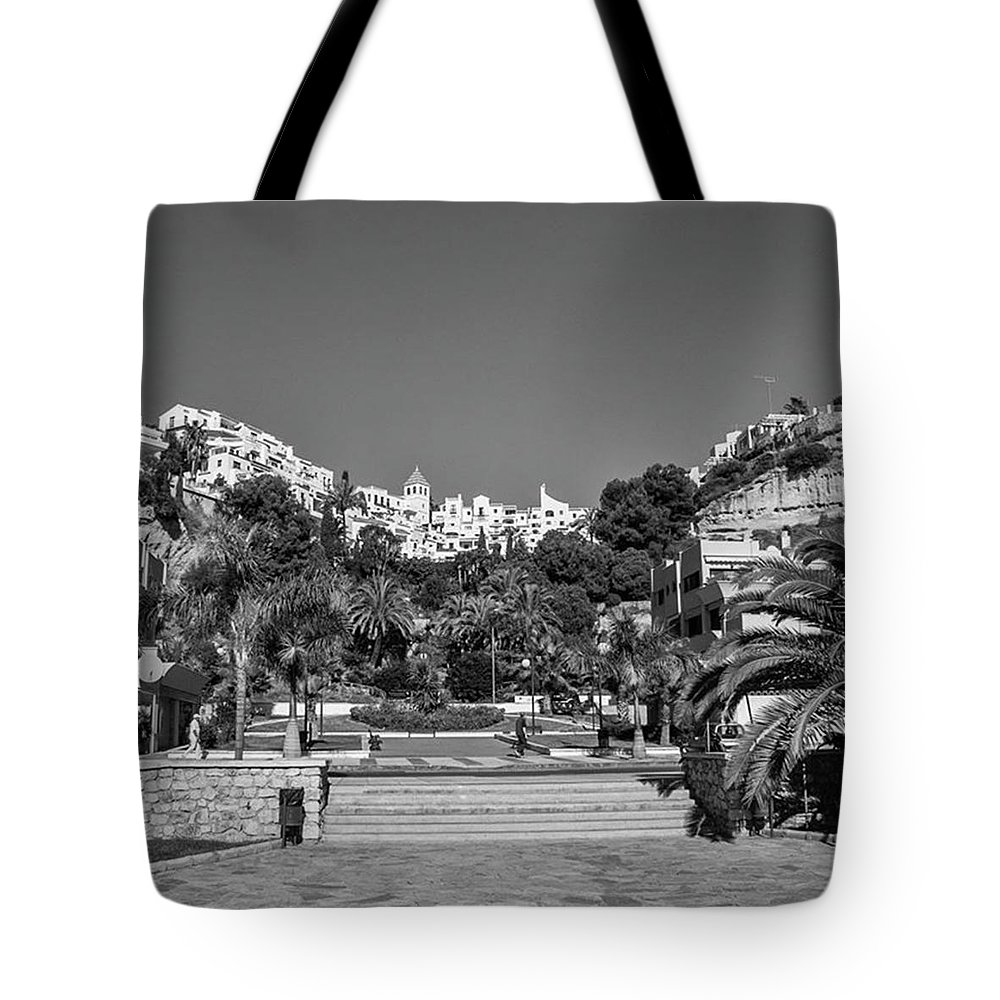 Mediterranean Tote Bag featuring the photograph El Capistrano, Nerja by John Edwards
