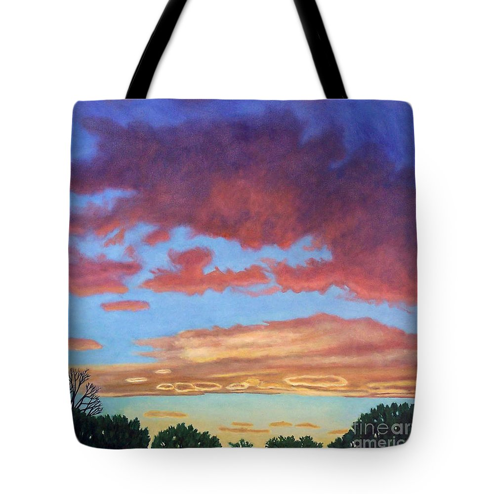 Sunset Tote Bag featuring the painting El Dorado Sunset by Brian Commerford