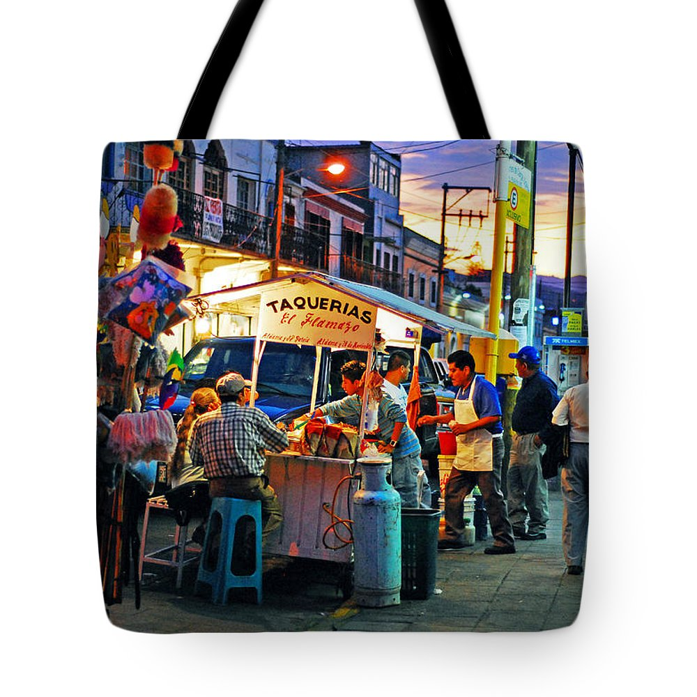Skip Hunt Tote Bag featuring the photograph El Flamazo by Skip Hunt
