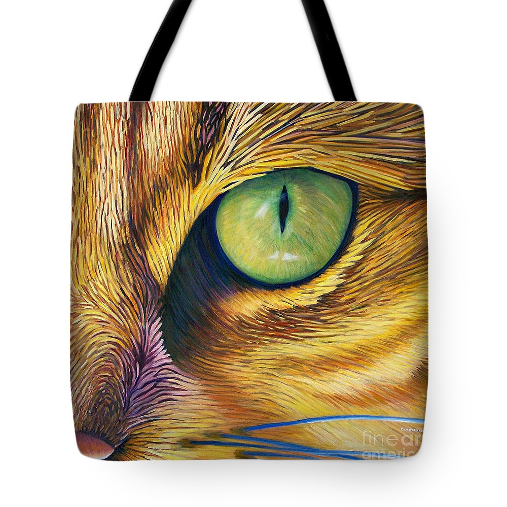 Cat Tote Bag featuring the painting El Gato by Brian Commerford