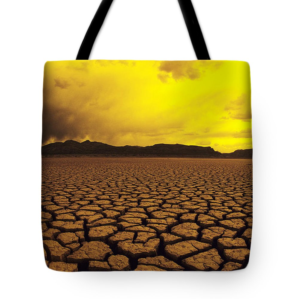 Afternoon Tote Bag featuring the photograph El Mirage Desert by Larry Dale Gordon - Printscapes