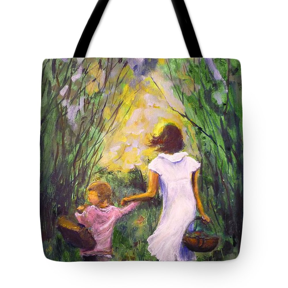 Trees Tote Bag featuring the painting El Paseo by Lizzy Forrester