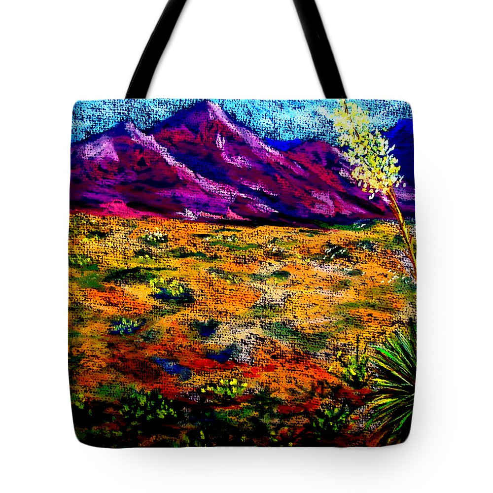 Yucca Tote Bag featuring the painting El Paso by Melinda Etzold
