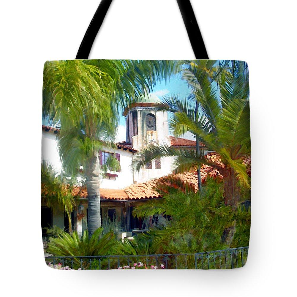 Santa Barbara Tote Bag featuring the photograph El Presidio by Kurt Van Wagner