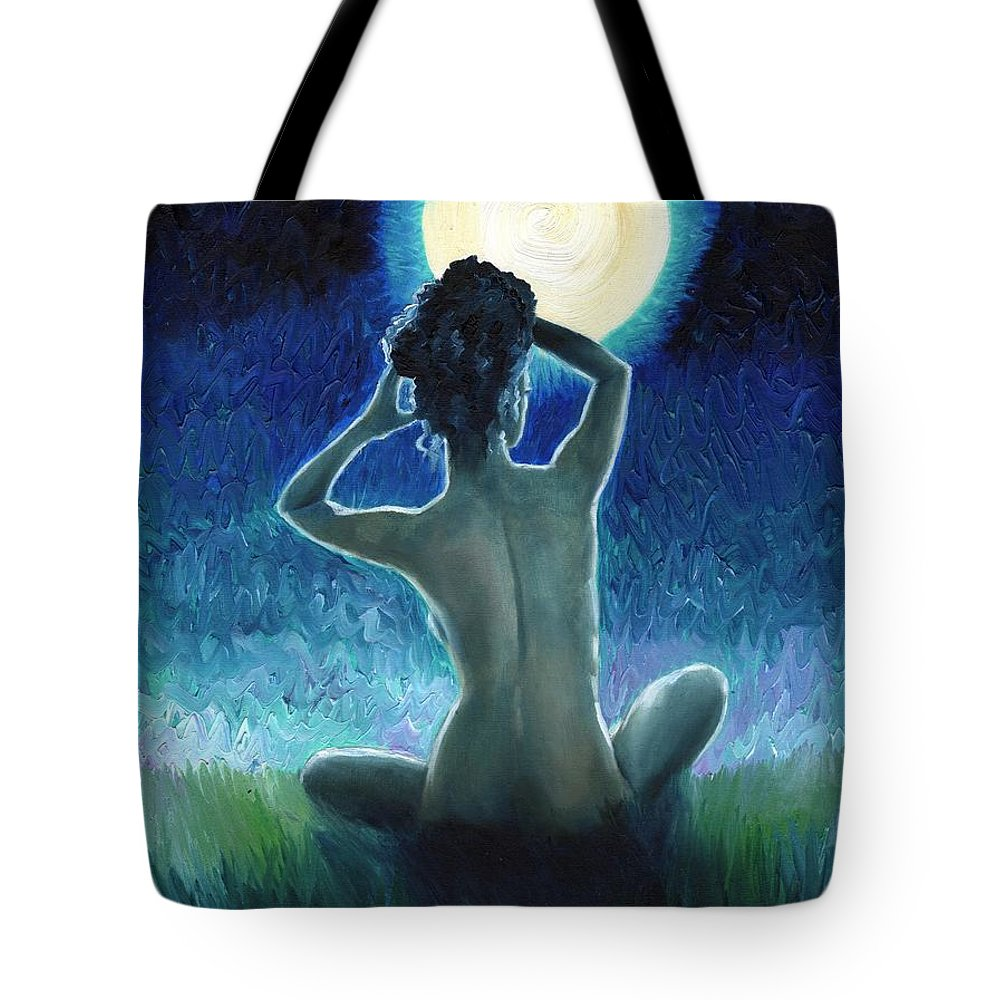 Van Gogh Tote Bag featuring the painting Electric Feel by Rhiannon Smith