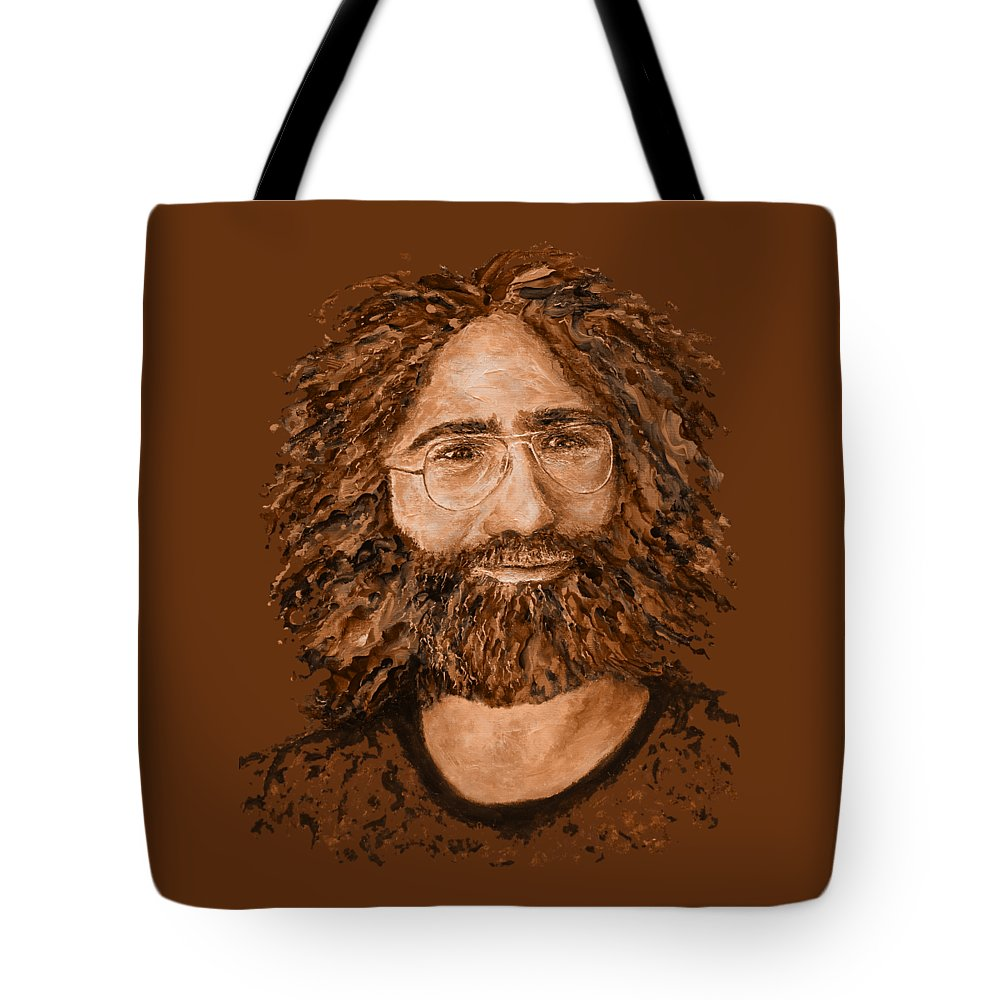 Jerry Tote Bag featuring the digital art Electric Jerry Desert - T-shirts-etc by Julie Turner