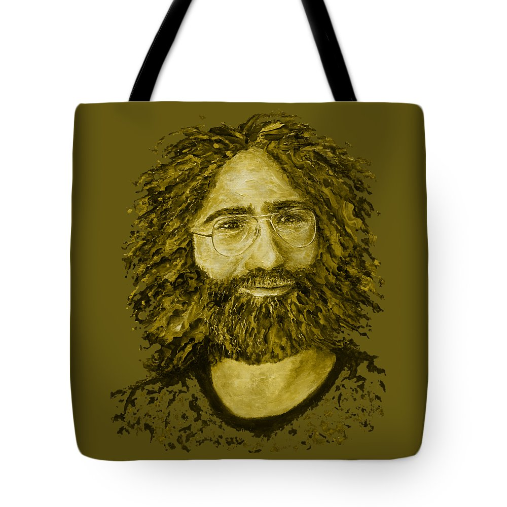 Jerry Tote Bag featuring the digital art Electric Jerry Lemon - T-shirts-etc by Julie Turner