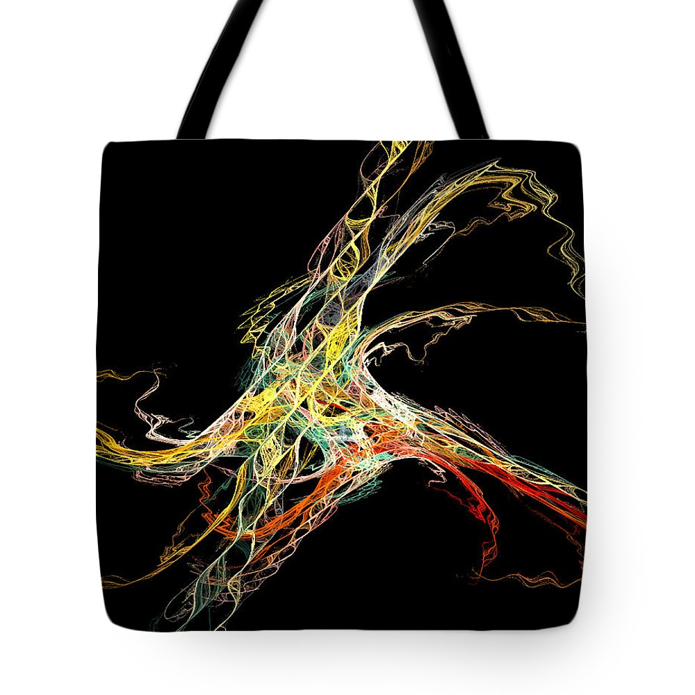 Abstract Tote Bag featuring the digital art Electric Shock by Andrea Lawrence