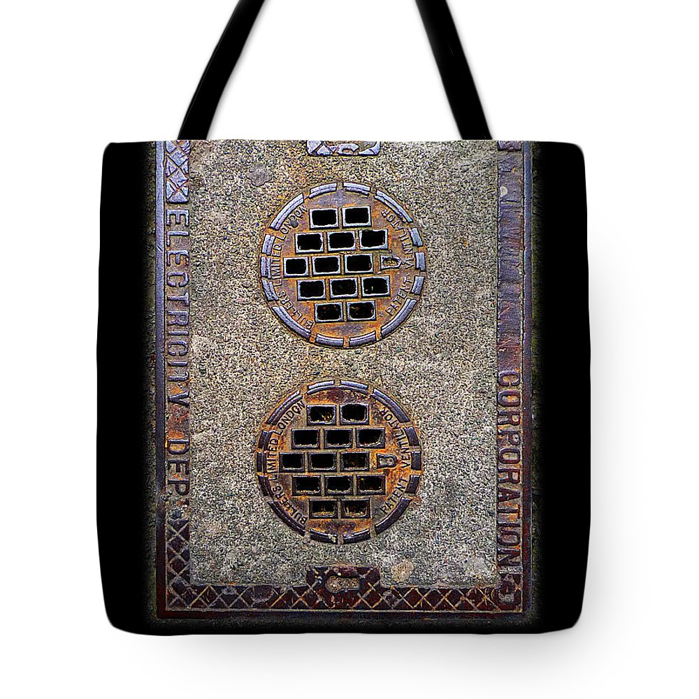 Access Cover Tote Bag featuring the photograph Electric Smiles by Charles Stuart