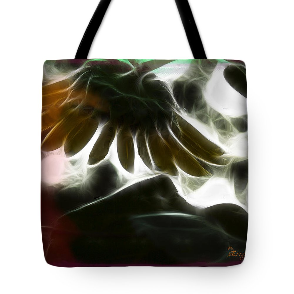 Tn Tote Bag featuring the photograph Electric Sunflower by Ericamaxine Price
