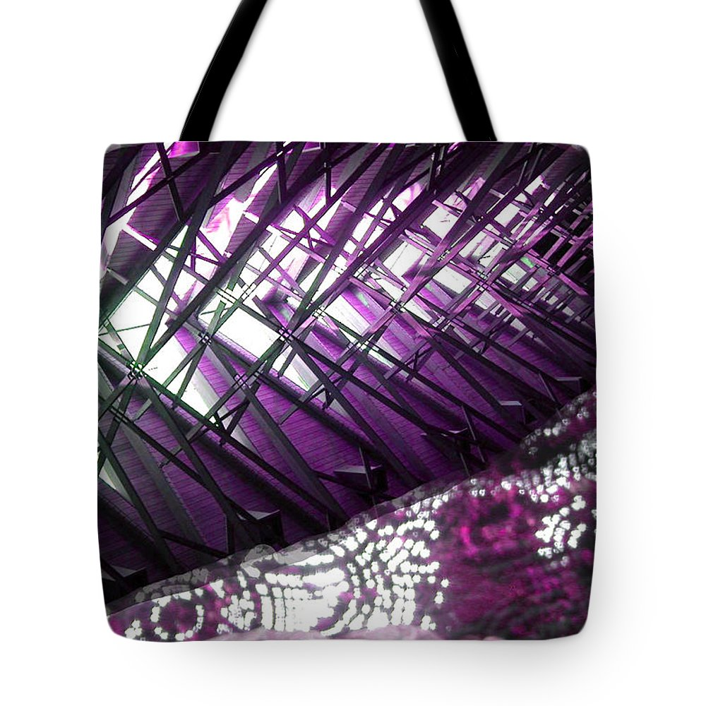 Fish Tote Bag featuring the photograph Electric Violet Fish by Anne Cameron Cutri
