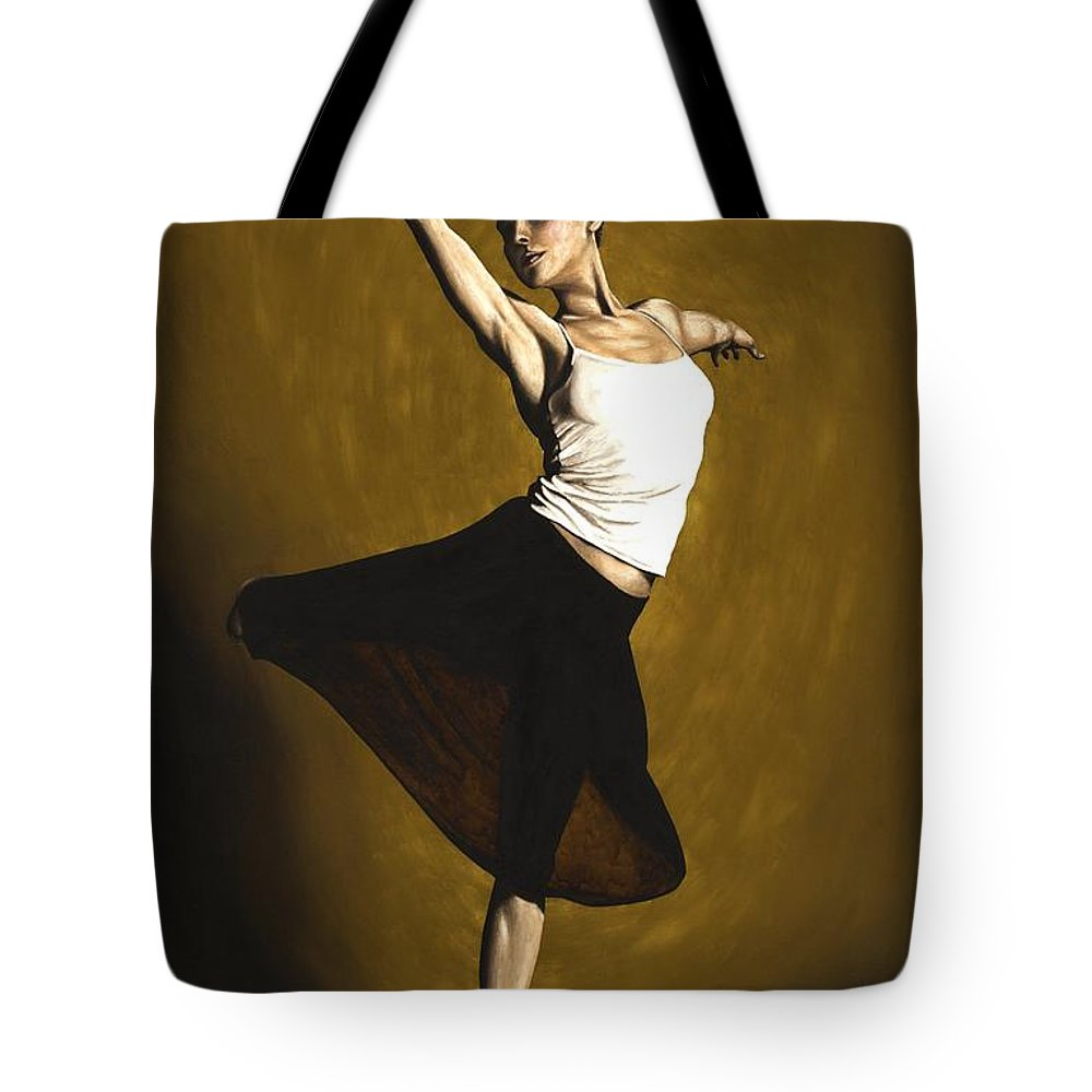 Elegant Tote Bag featuring the painting Elegant Dancer by Richard Young