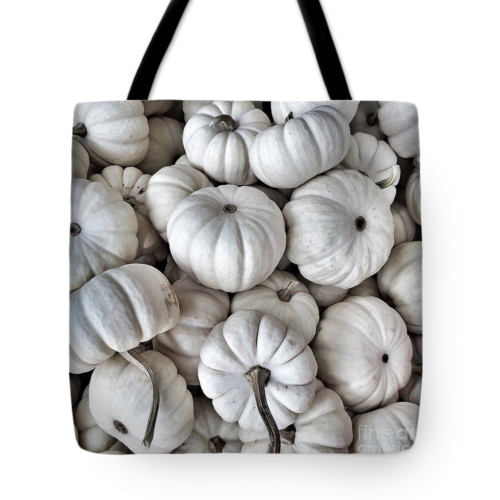 Pumpkins Tote Bag featuring the photograph Elegant Pumpkins by Onedayoneimage Photography