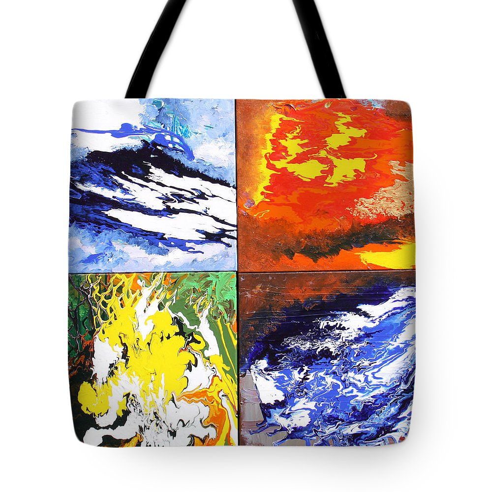 Elements Tote Bag featuring the painting Elements by Ralph White