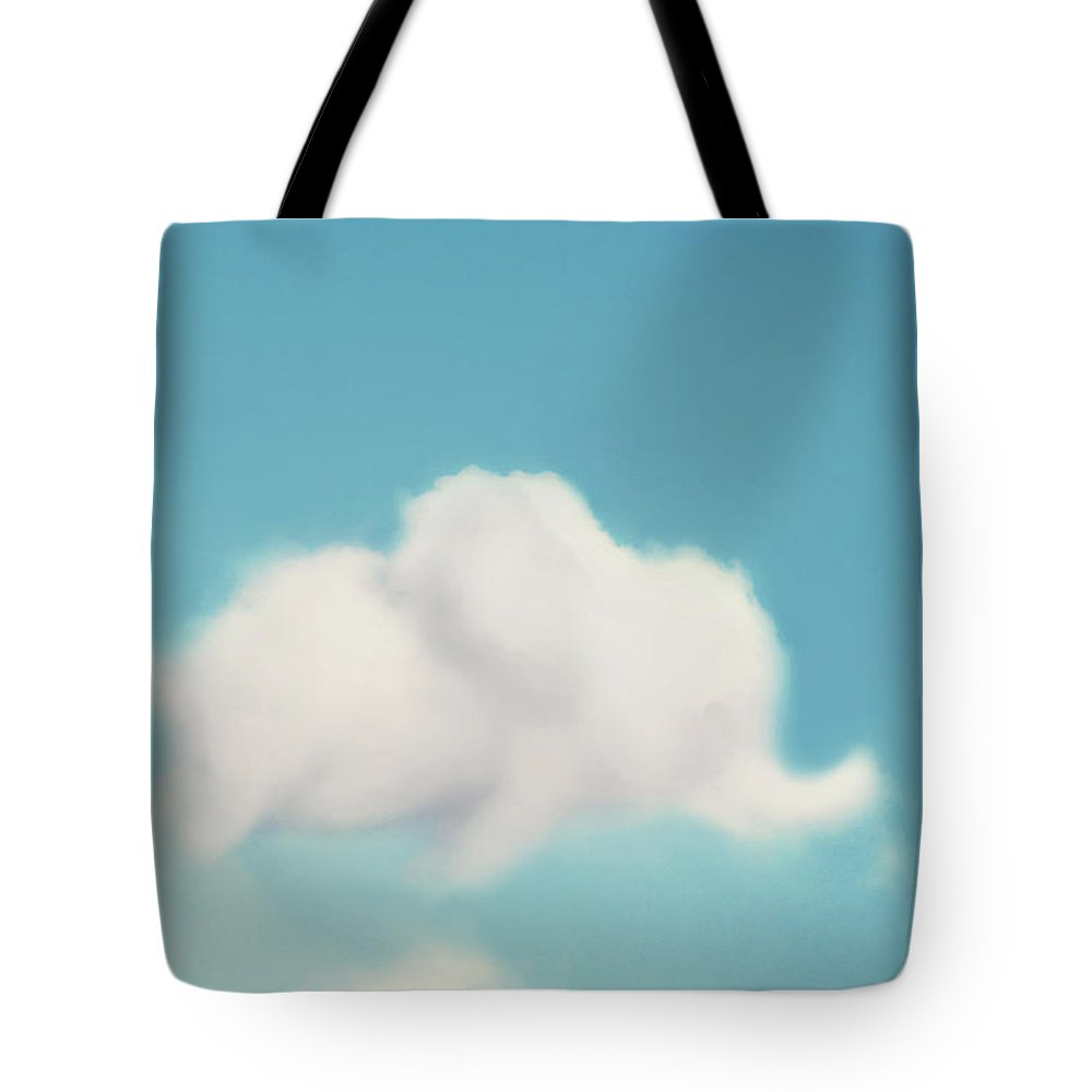 Cloud Photography Tote Bag featuring the photograph Elephant In The Sky by Amy Tyler