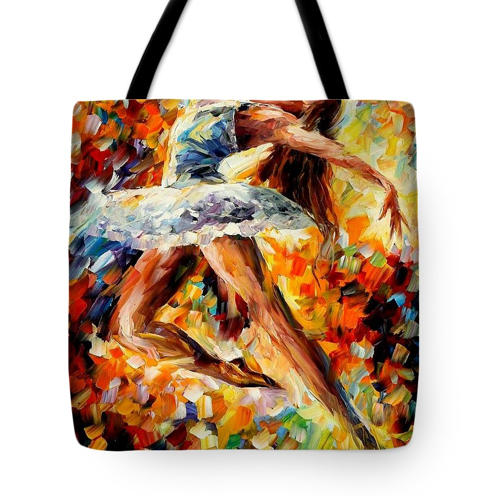 Afremov Tote Bag featuring the painting Elevation by Leonid Afremov