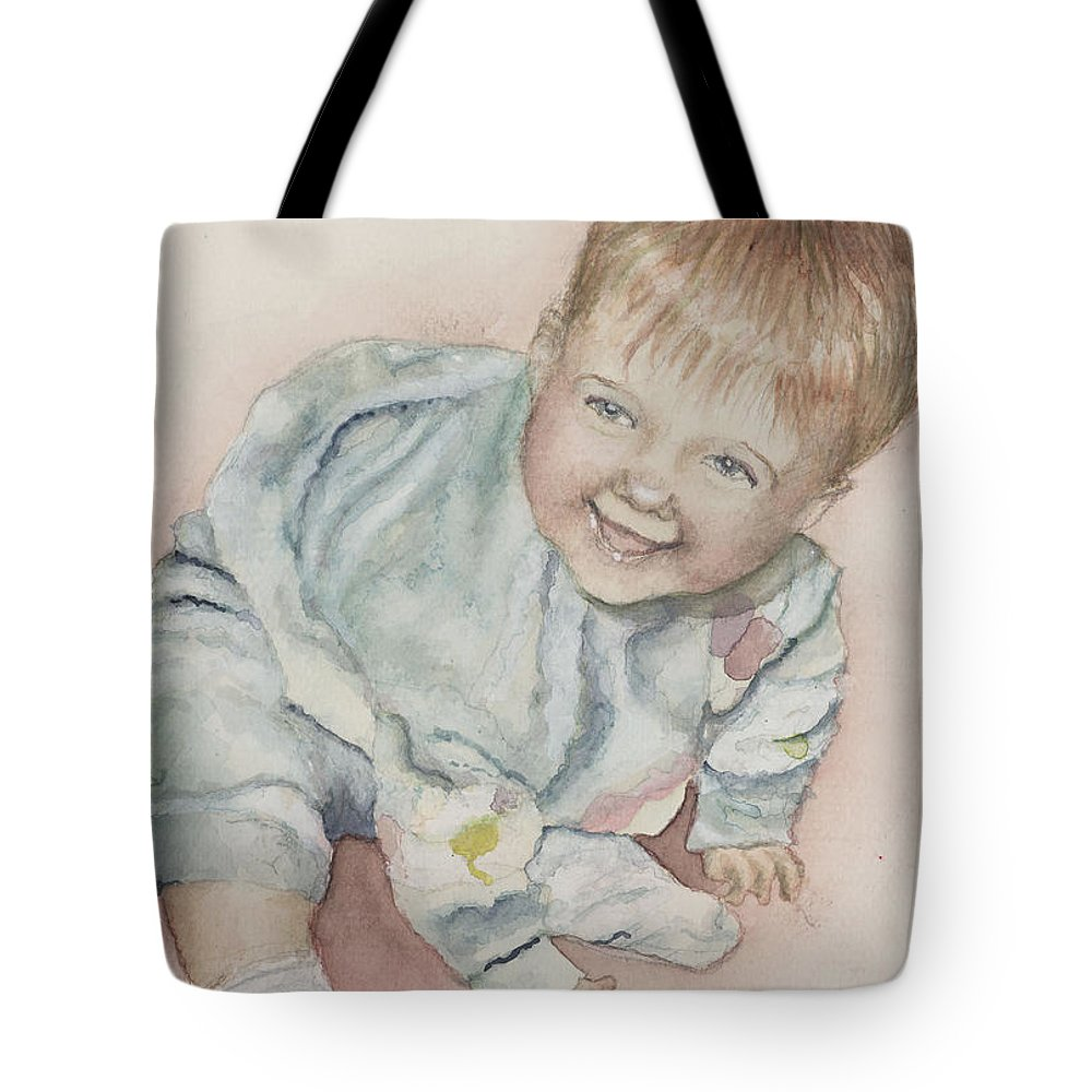 Girl Tote Bag featuring the painting Elise by Nadine Rippelmeyer