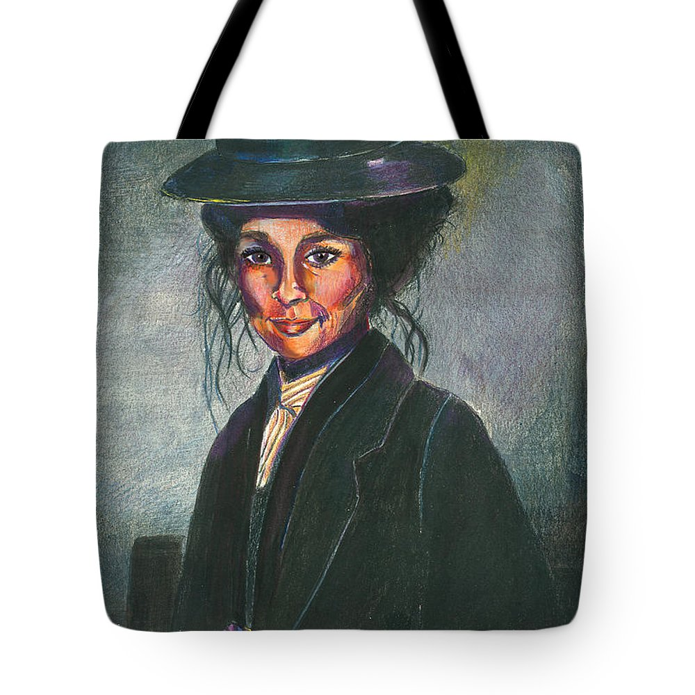 Woman Tote Bag featuring the mixed media Eliza by Arline Wagner