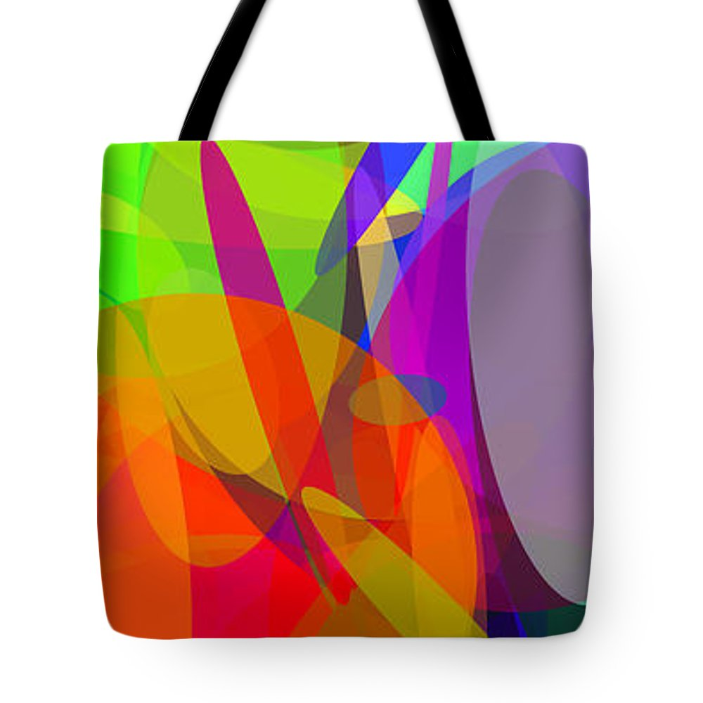 Ellipse Tote Bag featuring the digital art Ellipses 6 by Chris Butler