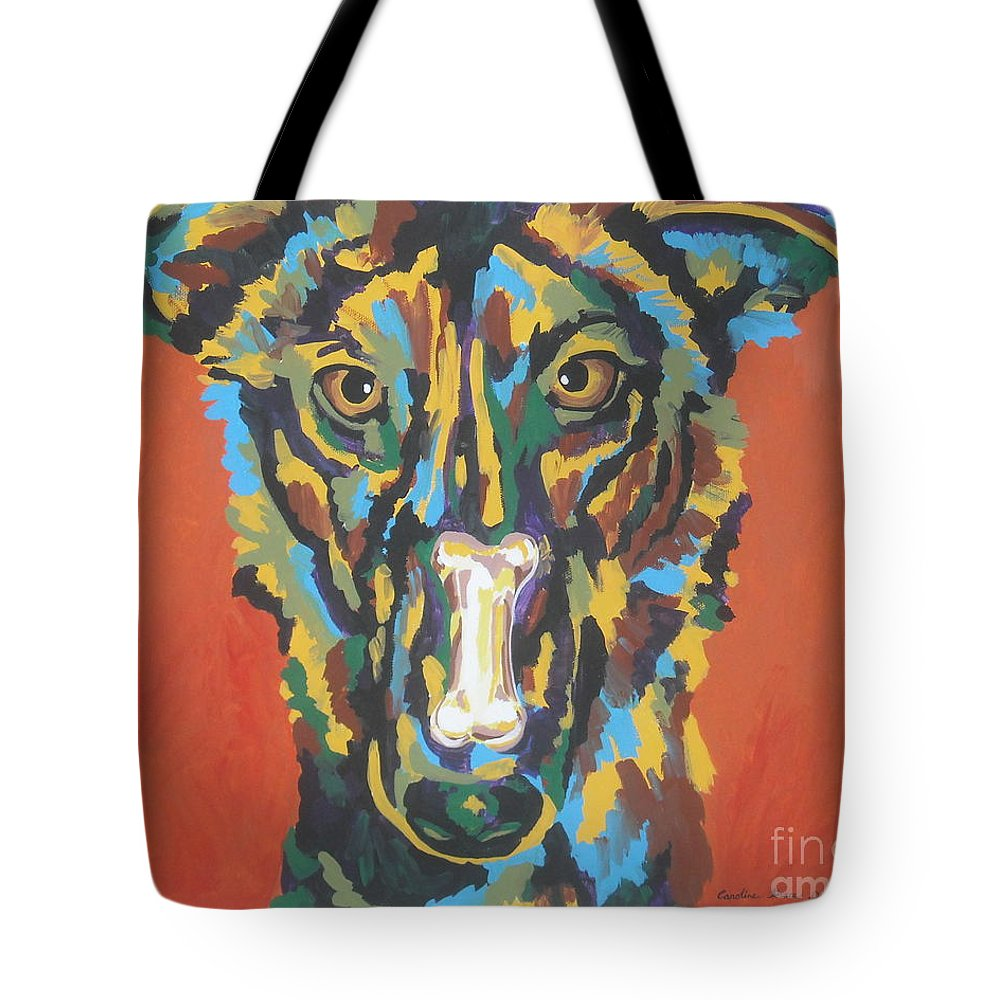 Dog Tote Bag featuring the painting Elsa by Caroline Davis