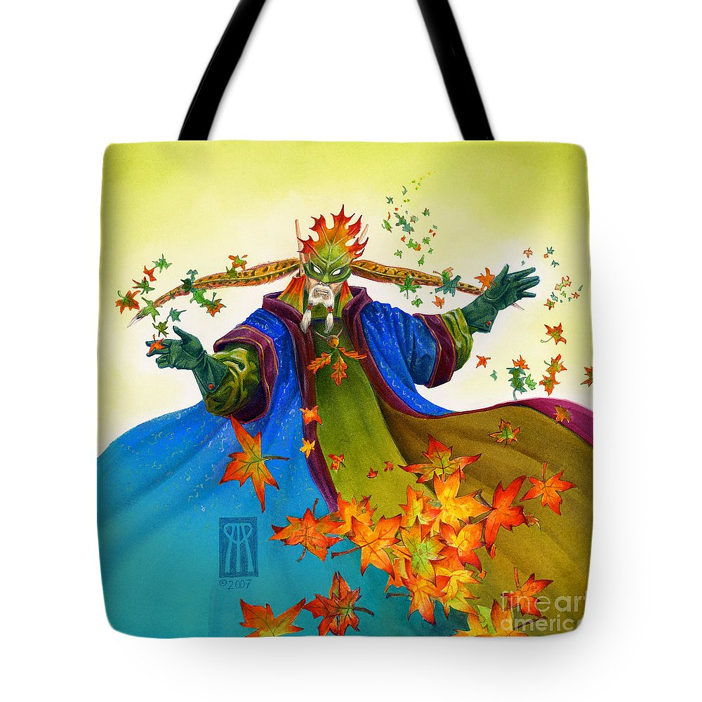 Elf Tote Bag featuring the painting Elven Mage by Melissa A Benson