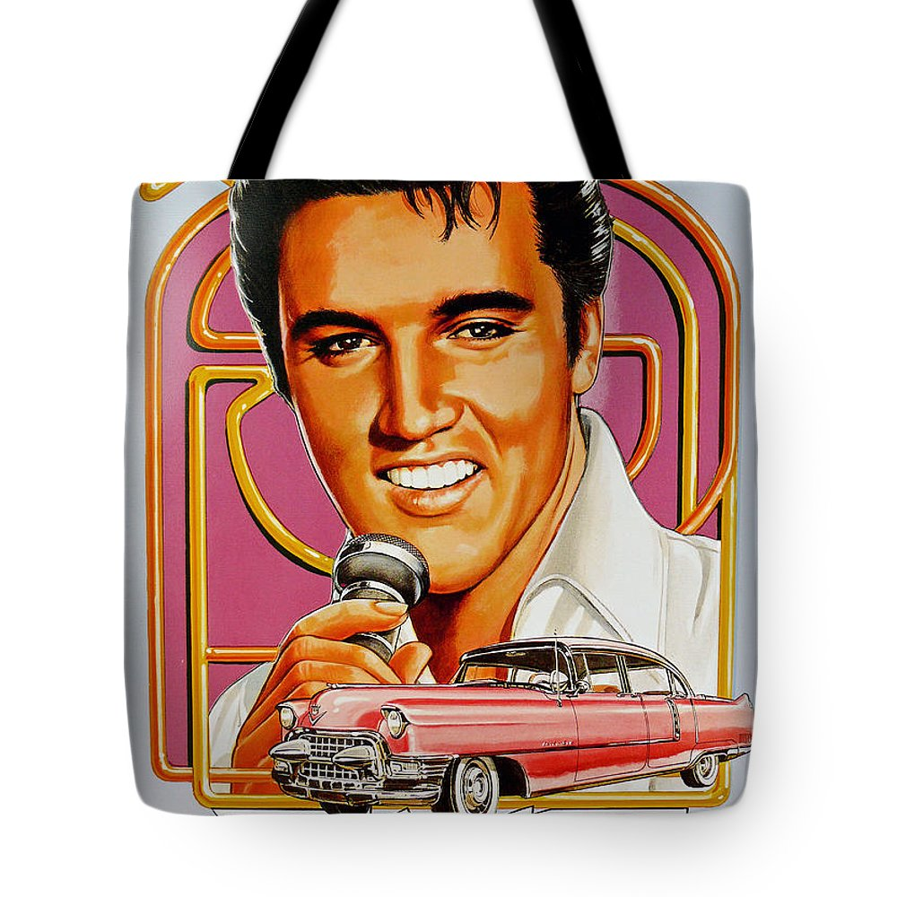 Elvis Tote Bag featuring the photograph Elvis-an American Classic by John R Bryant