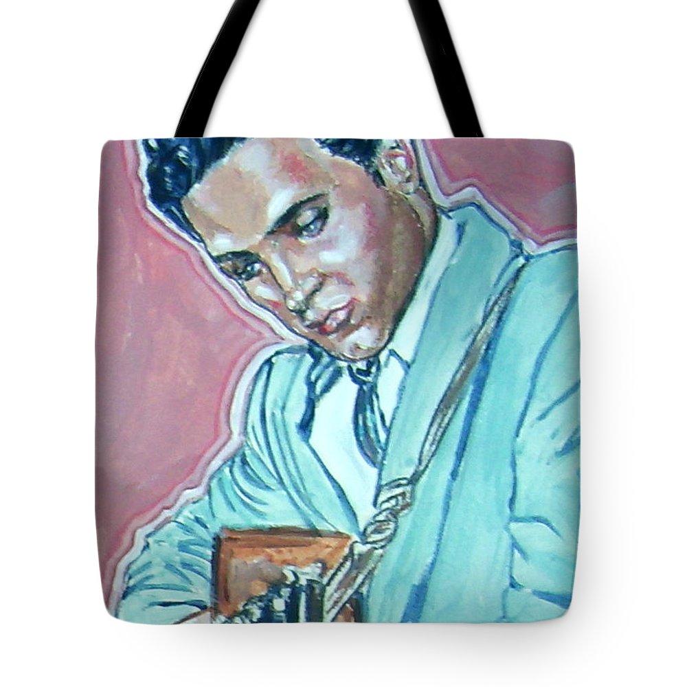 Elvis Presley Tote Bag featuring the painting Elvis Presley by Bryan Bustard